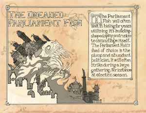 The Dreaded Parliament Fish 2014. Ink, Digital.